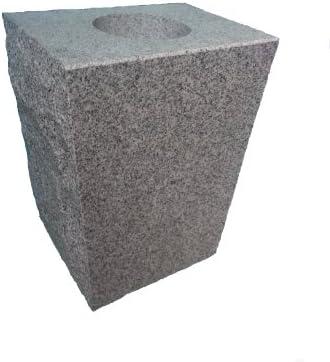 Upstate Stone Works Granite Vase Tapered 8″x6″x10″ Gray