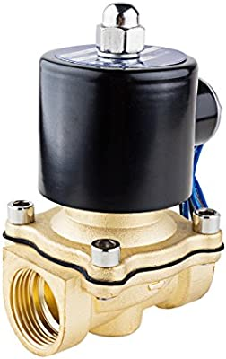uxcell DC 24V Electric Solenoid Valve BSP 1//4 Normally Closed NC Direct Action for Water Air Gas Fuels