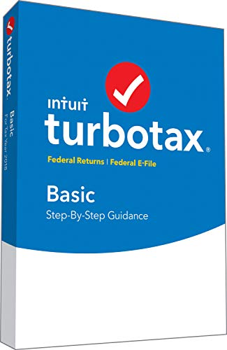 Software : TurboTax Basic 2018 Fed Efile PC/MAC Disc