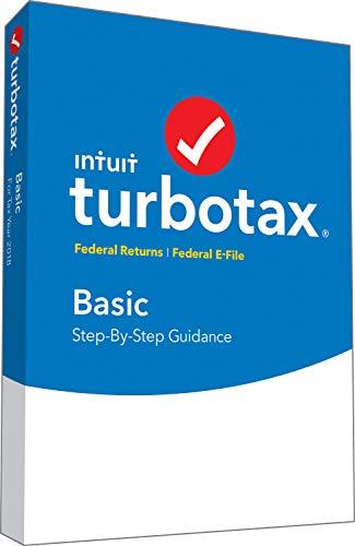 Software : TurboTax Basic 2018 Tax Software [PC/Mac Disc]