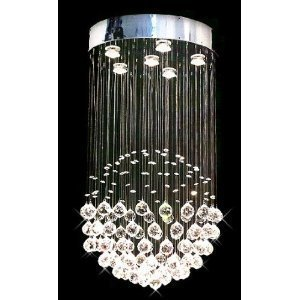 Modern crystal chandelier rain drop chandeliers lighting ceiling modern crystal chandelier quotrain dropquot chandeliers lighting ceiling light lamp hanging fixture brand aloadofball Image collections