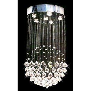 Modern crystal chandelier rain drop chandeliers lighting ceiling modern crystal chandelier quotrain dropquot chandeliers lighting ceiling light lamp hanging fixture brand mozeypictures Gallery