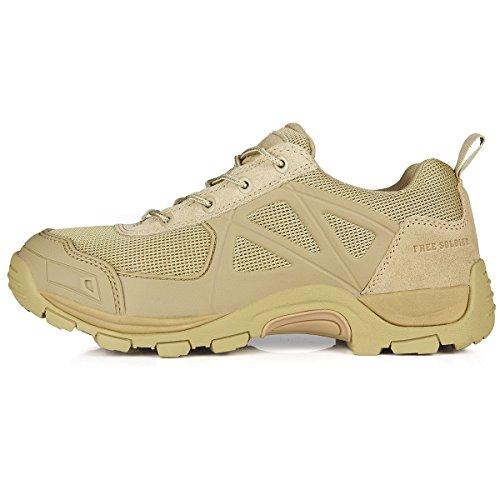 Free Soldier Herren Rapid rutschfest Camping Wandern Mountain All-Terrain Offroad Schuhe Desert Boots Sand Color