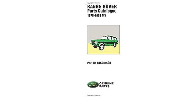 Range Rover Official Parts Catalog: Brooklands Books Ltd