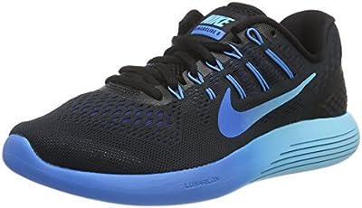 Nike Womens LunarGlide 8 OC Running Shoe Black/Multi Color/Deep Royal Blue 8 B(M) US