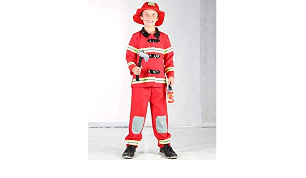 Disfraz niño Bombero - talla 11 - 14 años: Amazon.es: Juguetes y ...