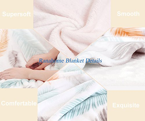 Unique Custom Double Sides Print Flannel Blankets Boho Decor Sunshine Clouds Nature Mountain And Valley Sun Divider In College Landscape Super Soft Blanketry for Bed Couch, Twin Size 60 x 70 Inches by Ralahome (Image #5)