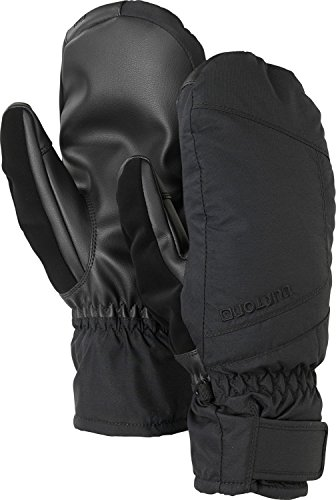 (Burton Men's Insulated, Warm, and Waterproof Profile Under Mitten with Touchscreen, True Black, Large)