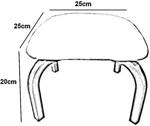 Métal Repose-pieds, empilable Petite place haut de gamme Electroplated Tabouret jambe en métal Changement Banc de chaussures Pack-2 114 114 (Size : Gray)
