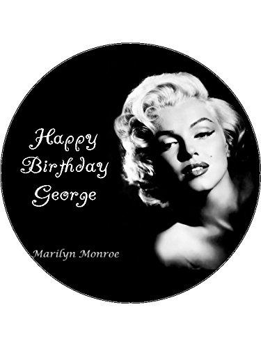 Brilliant 7 5 Marilyn Monroe Edible Icing Birthday Cake Topper Amazon Co Uk Personalised Birthday Cards Paralily Jamesorg