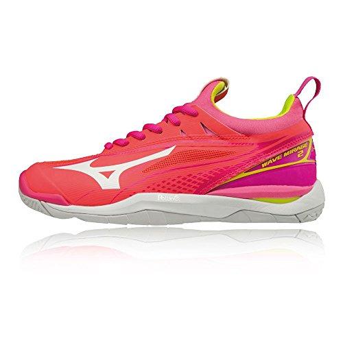 Wave Indoor 2 Orange Shoes Mizuno Women's Court Mirage SS18 UqgPHwHd