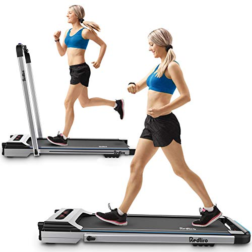 REDLIRO Under Desk Treadmill 2 in 1 Walking Machine Portable Space Saving Fitness Motorized Folding Treadmill Electric…