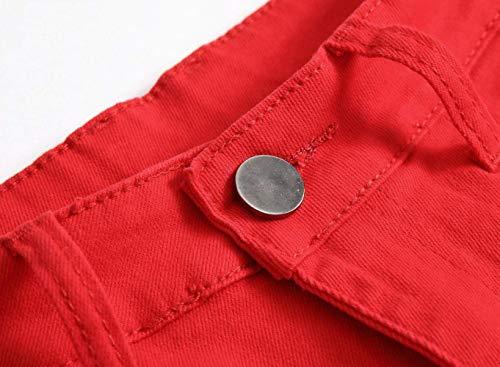 Da Hipster Clubwear De503rot Uomo Slim Pantaloni Motociclista Yasminey Stile Giovane Stretch Streetwear Jeans qwABRpPt