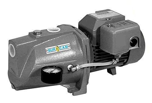Hp Shall Well Pump (BurCam 506221S  Shallow Well Cast Iron Jet Pump, 3/4 hp, 115V/230V)