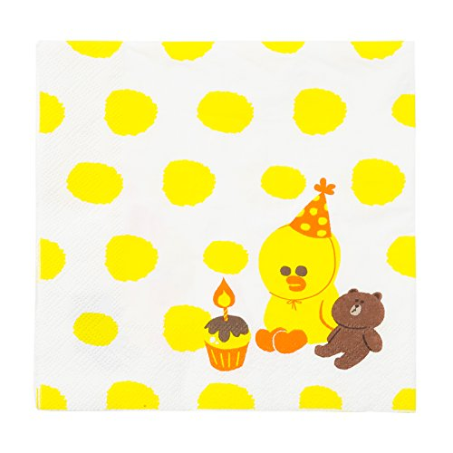 [LINE FRIENDS Brown And Sally Napkin One Size Yellow] (Sally Brown Costume)
