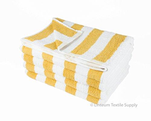 Linteum Textile 100% Cotton Beach Cabana Stripe Pool Towels 30x60 in. 4-Pack White Blue Stripes