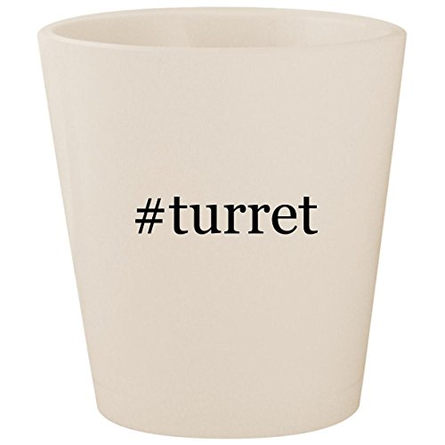 #turret - White Hashtag Ceramic 1.5oz Shot Glass