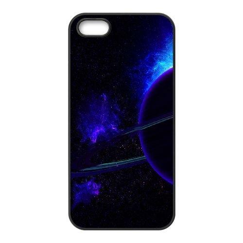 Neon Glowing Planet coque iPhone 4 4S Housse téléphone Noir de couverture de cas coque EOKXLKNBC20876