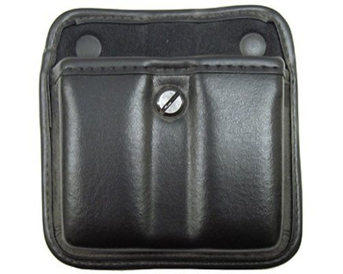 Bianchi, 7922 AccuMold Elite Triple Threat II Magazine Pouch, Plain Black, Size 2 by Bianchi
