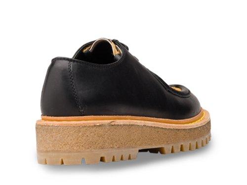 Car Shoe Mujer KDE05J3A3ZF0H5W Negro Cuero Zapatos De Cordones
