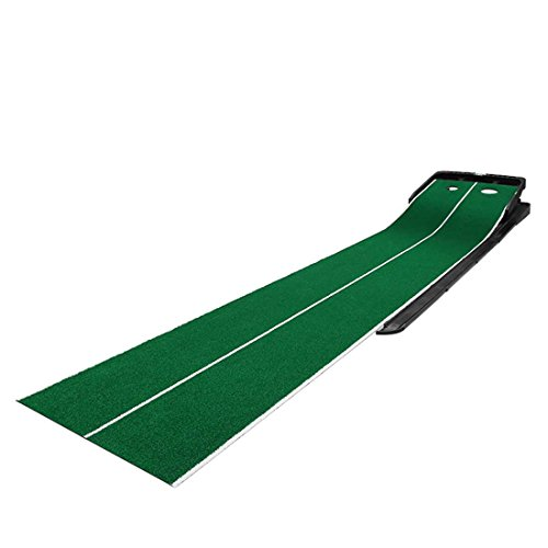 Novelty Golf Putting Trainer Indoor Golf Putting Green System----Auto Return,Extra Wide than Others,20inch Width by PGM (Image #2)