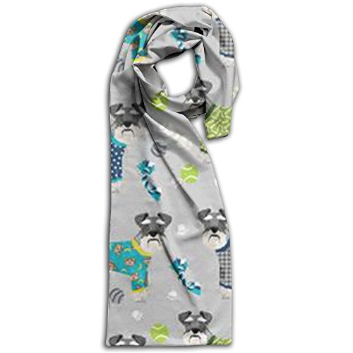 Schnauzers In Jammies Zippered Wallpaper Winter Scarves Lightweight Warm Towel Stylish Shawl Scarf - Guide Size Burberry