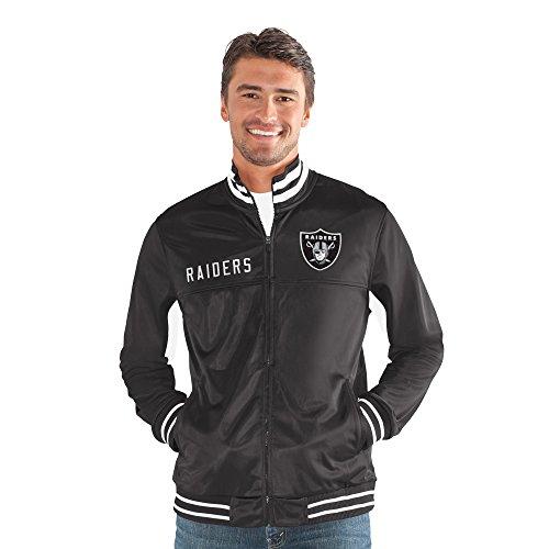 Oakland Raiders Nfl Door - G-III Sports NFL Oakland Raiders Big Shot Track Jacket, Small, Black