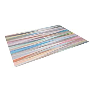 "Kess InHouse Mareike Boehmer ""Nordic Combination II"" Rainbow Abstract Indoor/Outdoor Floor Mat, 4-Feet by 5-Feet"