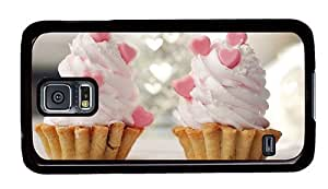Hipster Samsung Galaxy S5 Case make cases cream heart cupcakes PC Black for Samsung S5