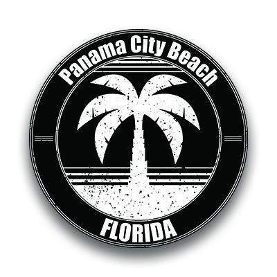 Panama City Beach Vinyl Decal Sticker Vacation Explore Memory Souvenir Waterproof 2 Pack 3 Inch Round Premium Quality Vinyl UV Protective Laminate PD1816