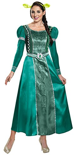 Disguise Women's Fiona Deluxe Adult Costume, Green, Large (Princess Fiona Dress)