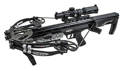 Killer Instinct SWAT Package - High Performance, Accurate Crossbow - Includes Hawke XB30 Pro 1-5 X 30 Scope, Deadening Limb Silencers, Folding Foot Stirrup, and 2.5 lb. Killer Instinct Trigger by Killer Instinct (Image #3)