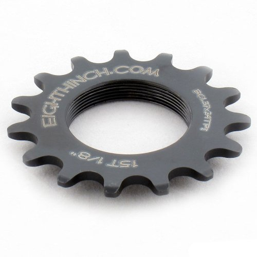 "EIGHTHINCH CNC FIXIE TRACK FIXED GEAR COG 1/8"" 15T 15 TOOTH"