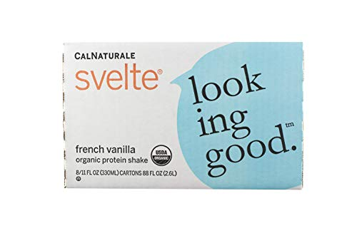 Svelte Organic Protein Shake, French Vanilla, 11 Ounce (Pack of 8)