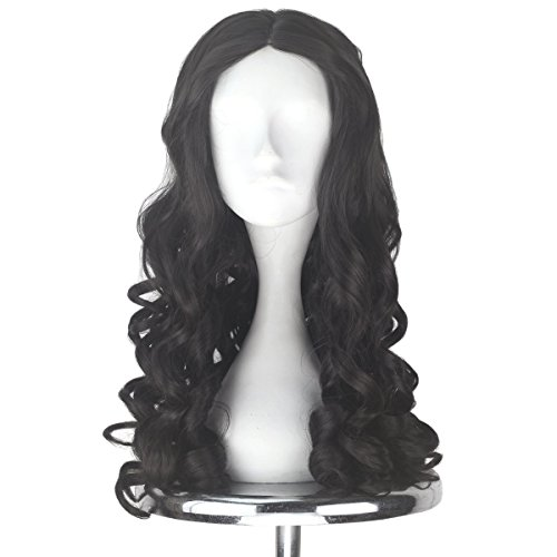 Miss U Hair Women Girl's Long Brown Curly Halloween Cosplay Costume Wig Adult Kids Party Hairs