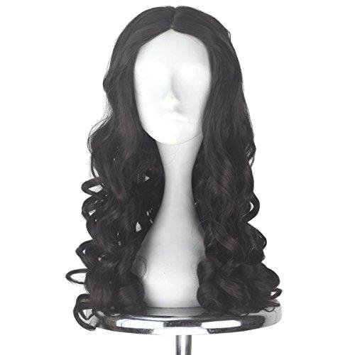 Miss U Hair Women Girl's Long Brown Curly Halloween Cosplay Costume Wig Adult Kids Party Hairs
