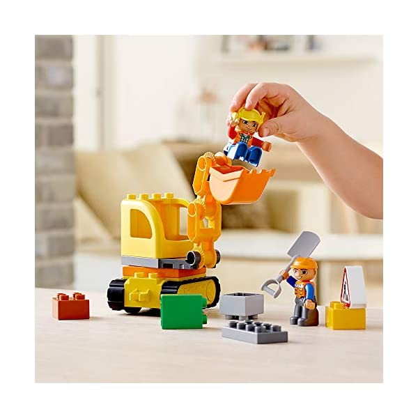 LEGO DUPLO Town Truck & Tracked Excavator 10812 Dump Truck and Excavator Kids Construction Toy with DUPLO Construction…