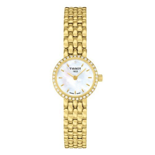 Tissot Lovely Mother of Pearl Dial Gold-plated Ladies Watch T0580096311600