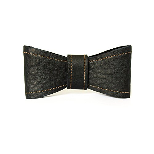 Grain Leather Chaps - Assist Men's 100% Full Grain Leather Hand Crafted Bow Tie 20.5