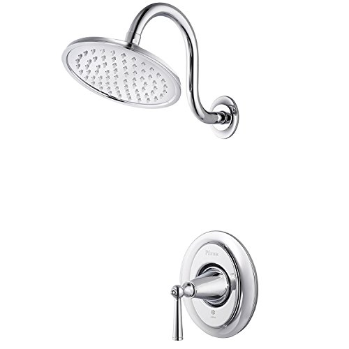 Pfister G89-7GLC Saxton 1-Handle Shower Only Trim in Polished Chrome, 2.0gpm (Saxton 2 Handle)