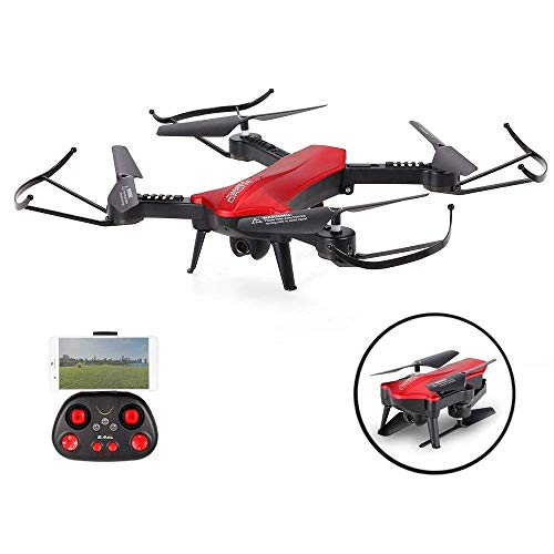 SZJJX RC Drone with 720P HD Wifi Camera Live Video 2.4Ghz Remote Control Quadcopter 6-Axis Gyro 4CH FPV Headless Mode Helicopter with Altitude Hold and One Key Return L6060 Red