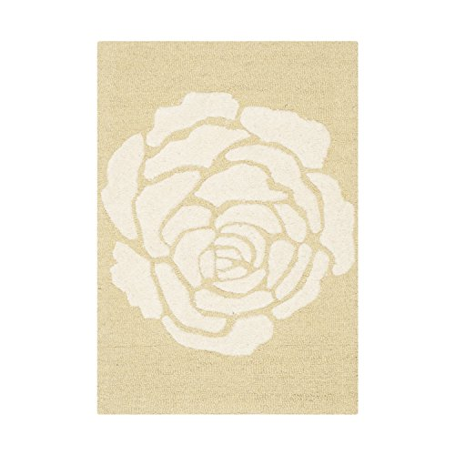 (Safavieh Cambridge Collection CAM782Q Handcrafted Moroccan Geometric Light Gold and Ivory Premium Wool Area Rug (2' x 3'))