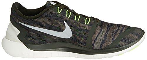 Nike Mens Gratis 5,0 Löparskor Sequoia Turbo Grön Cystal Grön Toppmöte Vit 301