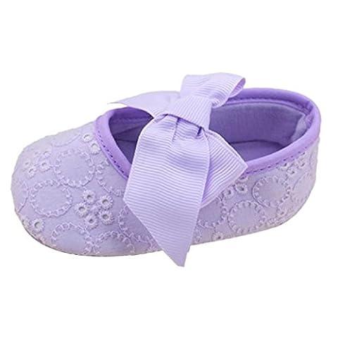 Creazrise Baby Infant Kid Boy Girl Soft Sole Sneaker Toddler Shoes (S:0-6 Month, Purple) - Color Shoes Pants