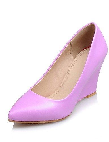 cn37 5 5 ZQ as Tacones Trabajo us6 Cu de Blanco uk4 Zapatos PU Puntiagudos Oficina 7 Cu us6 pink Beige uk6 cn39 Casual Morado eu39 5 us8 5 white cn37 5 a Tac¨®n Rosa pink y uk4 5 eu37 eu37 7 mujer prpwqxA01