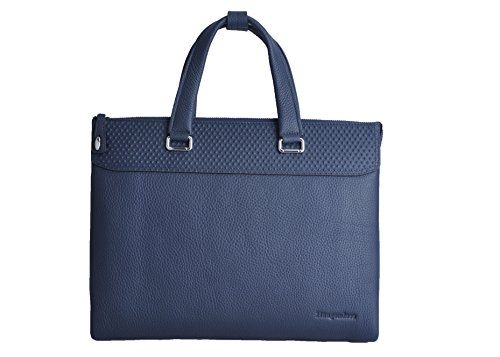 Haagendess Business Mens Bag Leather Laptop Briefcase Hand Bag (Blue) by haagendess (Image #7)