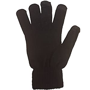 FASHION REVIEW Women's Warm Winter Ipod Ipad Smart Phone Touchscreen Gloves One Size Black