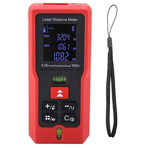 Digital La-ser Distance Meter, Wal front, M Series Handheld Range Finder Tape Distance Measure for Precision Measuring(M100)