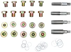 Tapón del cárter de vaciado de aceite de caja de engranajes del diferencial kit de reparación de roscas dañadas 64pcs A547: Amazon.es: Bricolaje y herramientas