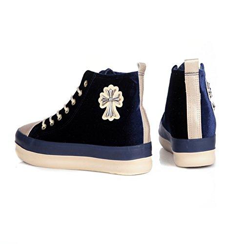 El aumento de bota zapatos de lona Sra./zapatos del estudiante de la manera ocasional A